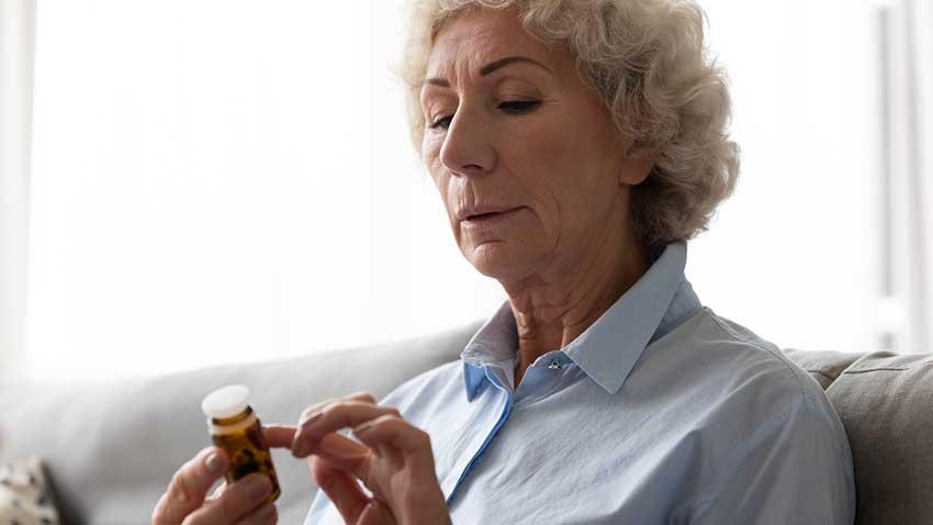 checking expiry date of medicine